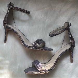 KENNETH COLE Mallory Snakeskin Print Heels